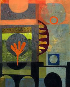 Michèle Brown Artist - The Old Cells Studio: Two collage and monoprint abstracts