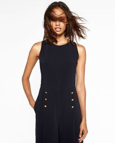 Image 4 of GOLDEN BUTTON JUMPSUIT from Zara