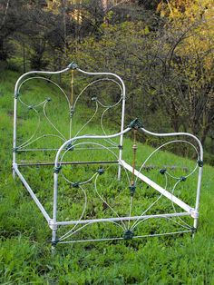 Vintage iron bed frame from 1800s