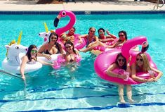 This group of gals headed to Watercolor, Florida to celebrate. Pool floats and a lingerie shower made this Watercolor bachelorette bash one for the books!