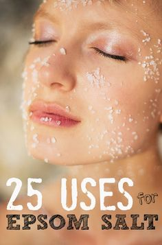 25 Magical Uses For Epsom Salt | Check out all the amazing ways you can use Epsom salt.....Lots of Great tips..#salt..