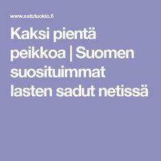 Kaksi pientä peikkoa   Suomen suosituimmat lasten sadut netissä Grimm, Boarding Pass