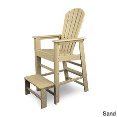 Polywood South Beach Polyethylene Lifeguard Chair (Sand), Beige, Patio Furniture (Plastic)