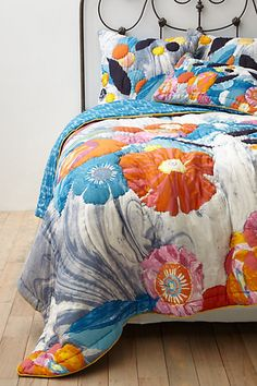 Jolie Quilt - Anthropologie. my current OBSESSION - have to have it in my apartment! #flowershop