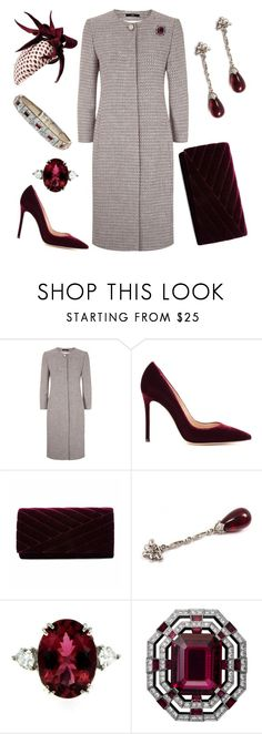 """""""Departing New York City"""" by nmccullough ❤ liked on Polyvore featuring BOSS Black, Gianvito Rossi, Gunne Sax By Jessica McClintock, Jane Taylor and Tiffany & Co."""