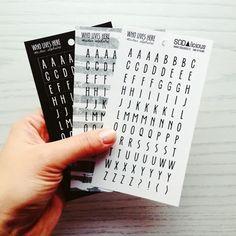 SODAlicious alphabet stickers
