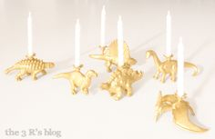 Dinosaur Candle Holder Tutorial by the 3 R's blog