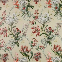 Find out all of the information about the Colefax & Fowler product: upholstery fabric CLARISSA. Vintage Paper, Vintage Floral, Chintz Fabric, Painted Rug, Interior Design Work, Background Vintage, Vintage Backgrounds, Drapery Fabric, Fabric Wallpaper