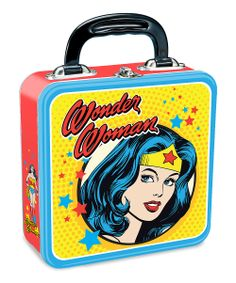 Yellow Wonder Woman Square Lunchbox - I have this, I've filled it with miscellaneous geekery.