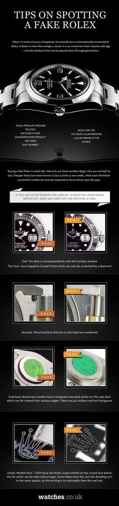Tips on spotting a fake Rolex alles für Ihren Erfolg - www. Amazing Watches, Cool Watches, Rolex Watches, Black Watches, Mens Designer Watches, Luxury Watches For Men, Dream Watches, Sport Watches, Der Gentleman