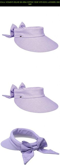 Scala Women's Deluxe Big Brim Cotton Visor with Bow, Lavender, One Size #gardening #fpv #tech #gadgets #visor #products #racing #parts #kit #camera #technology #plans #shopping #drone