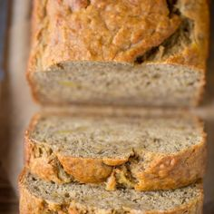 You Have Meals Poisoning More Normally Than You're Thinking That Always Say Yes To Skinny Banana Bread This Skinny Banana Bread Recipe Is The Best It's Even Low Sugar And Low Fat Low Sugar Banana Bread, Skinny Banana Bread, Apple Banana Bread, Banana Bread Cake, Zucchini Banana Bread, Healthy Banana Bread, Banana Bread Recipes, Pumkin Bread, Loaf Recipes