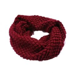 "Cute and Simple Design Woolen Yarn Scarf *I saw a ""neck warmer"" in this color in target when I was getting groceries, I couldn't find it online but it looked similar to this and was pretty great! this one is good too*"