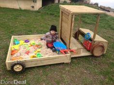 sand pit truck kids garden toy