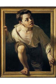 """Trompe L'oeil's Grand Illusion - WSJ. Pere Borrell del Caso's """"Escaping Criticism,"""" oil on canvas, 1874"""