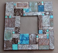 Mosaic Tile Art, Mirror Mosaic, Polymer Clay Projects, Polymer Clay Art, Pottery Studio, Pottery Art, Painting Wood Paneling, Picture Frame Decor, Stained Glass Birds