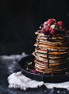 Whoa! Coconut pancakes by Call me cupcake // gorgeous styling