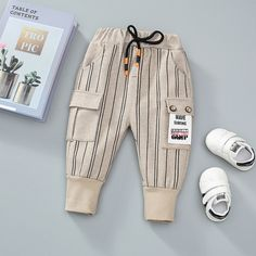 Baby / Toddler Stylish Striped Front Pocket Trouser (No shoes) Boy Outfits, Fashion Outfits, Boys Clothes Style, French Street Fashion, Jeddah, Matching Family Outfits, Baby Outfits Newborn, Latest Fashion For Women, Trousers