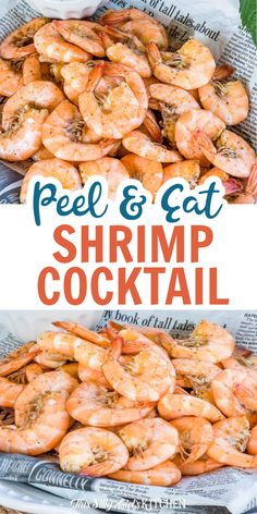 Peel and Eat Shrimp Cocktail, boiled in a rich beer stock makes this one super flavorful shrimp cocktail! Plus, I have an easy recipe for a classic cocktail sauce! #shrimp #cocktailsauce Drink Recipes, My Recipes, Dinner Recipes, Homemade Cocktail Sauce, Yummy Appetizers, Popular Recipes, Soul Food, Shrimp, Main Dishes