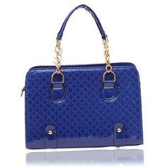 Korean Style Retro Chain Handle Women s Handbag Single-shoulder Bag  Messenger Bag Navy Blue 8dc38ba9b38c6