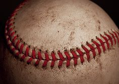 Macro image of the baseball. - Great image for one's Man Cave!  #Baseball #ManCave