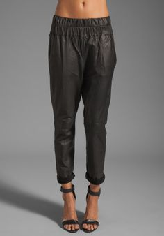 FRIEND OF MINE Tyson Leather Pants in Black