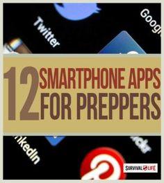 12 Smartphone Apps For Preppers | Survival skills and preparedness tips at survivallife.com #survivalskills #survivallifehacks