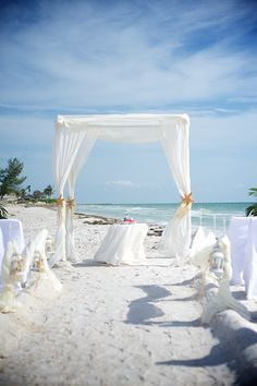 Beach Wedding Bamboo Canopy with White Fabric | Florida Beach Weddings | Pinterest | White fabrics Beach weddings and Canopy & Beach Wedding Bamboo Canopy with White Fabric | Florida Beach ...