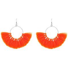 Fringe Tassel Hoop Earrings ❤ liked on Polyvore featuring jewelry, earrings, tassel hoop earrings, tassle earrings, hoop earrings, tassel earrings and tassel jewelry