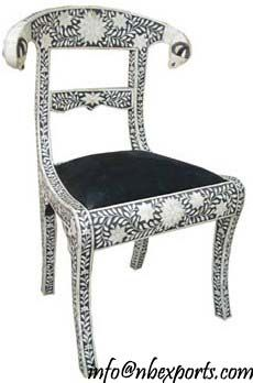 Bone Inlay Coffee Table ! Bone Inlay Chair From India ! MOP Chair ! Inlay  Chair