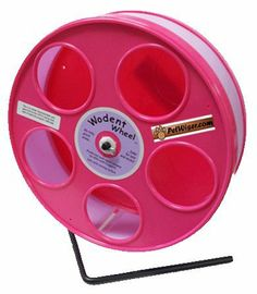 "Amazon.com: Rodent - Semi-Enclosed Exercise Wodent Wheel 'Jr.' 8"" Lavender with Pink: Pet Supplies  Expensive, but worth the price to prevent hammie injury"