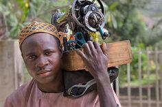 Africa | Sewing Service.  Hausa.  Kaduna, Nigeria | © Irene Becker