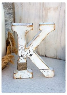 stand alone wooden letters - Google Search