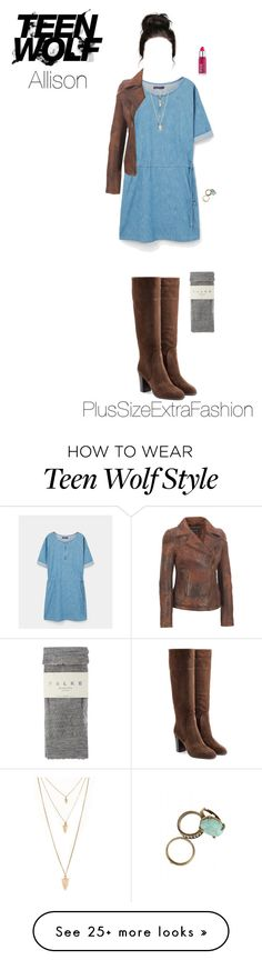 """Allison Inspired Plus Size Spring Outfit"" by plussizeextrafashion on Polyvore featuring MANGO, Sergio Rossi, Forever 21, Rossetto, Falke, TeenWolf, plussize, Allison, spring2016 and plussizeextrafashion"