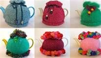 ❥Knit & Crochet Tea Cosies, Mug Hug Snugs and Cuppa Cosies.   pauline mclynn tea cosies
