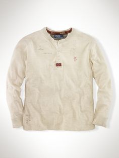 long sleeved duofold henley...