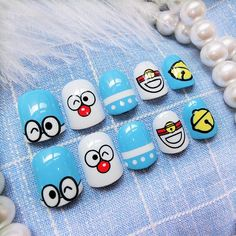 What you need to know about acrylic nails - My Nails Cartoon Nail Designs, Animal Nail Designs, Animal Nail Art, Best Nail Art Designs, Colorful Nail Designs, Acrylic Nail Liquid, Acrylic Nail Powder, Black Acrylic Nails, Nail Art Pen