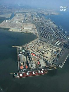 Awesome aerial view of Port Qasim Karachi, Sindh Pakistan