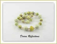 Cream and Yellow Necklace Cream and Yellow by DivineReflections