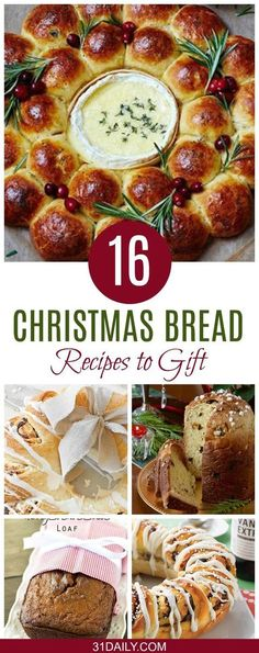 24 Holiday Loaves and Christmas Bread Recipes - 31 Daily - 24 Holiday Loaves and Christmas Bread Recipes 16 Holiday Loaves and Christmas Bread to Bake for Gifts - 31 Daily - Holiday Bread, Christmas Bread, Holiday Baking, Christmas Baking, Christmas 2019, Xmas, Merry Christmas, Italian Christmas, Homemade Christmas
