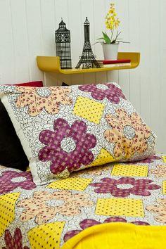 Edredón y funda de almohada decorada