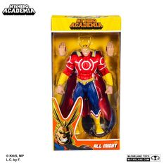 My Hero Academia action figur af All Might i Silver Age Costume på 19 cm Todd Mcfarlane, Silver Age, Action Figures, Costumes, Baseball Cards, Toys, Anime, Gaming, Happy