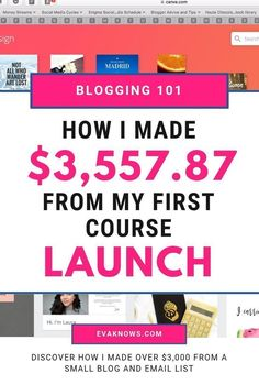How I made $3,557.87 from my first ecourse launch | Monetizing your blog | Blog for beginners | Blog tools | Blogging tips | Blogging ideas | Blogging 101 | Blogging for beginners | Ecourse creation | How to make an ecourse | ecourse tips