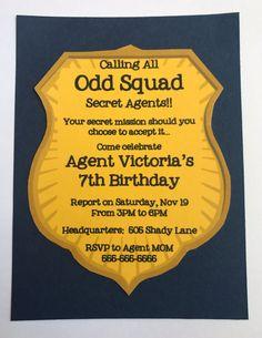 ODD SQUAD | Secret Agent Birthday Party Invites Invitations 8 Count - PRINTED