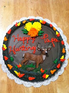 Autum deer cookie cake