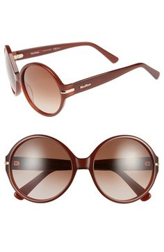 Max Mara 'Detail I/S' 56mm Round Sunglasses available at #Nordstrom