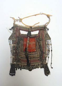 Old face veil; possibly from the Rashaida people | Cloth decorated with silver | Est. 1000 - 2000€ ~ (June '18)