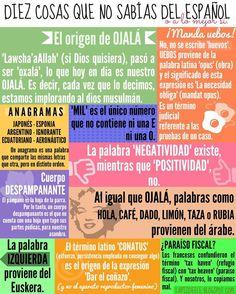 10 curiosidades del Español. Más aquí: https://www.facebook.com/lapizele