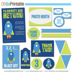 Buzz Lightyear Inspired Party Printables Package via Etsy