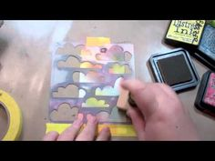 Stamps and stencils tutorial using distress inks by Julie Fei-Fan Balzer.  Cool.